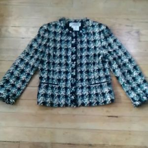 Pre-owned Carlisle Teal, Black, and White Jacket